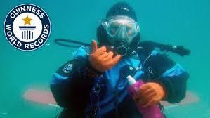 رکورد غواصی در آبهای آزاد توسط یک زن شکسته شد.
